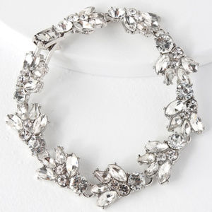 (3 for $30) Silver and Clear Rhinestone Bracelet
